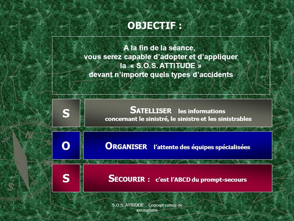 S O S OBJECTIF : SATELLISER les informations