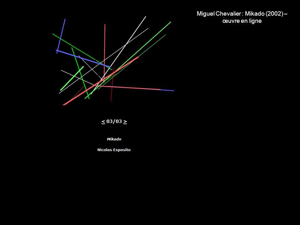 Miguel Chevalier : Mikado (2002) – œuvre en ligne