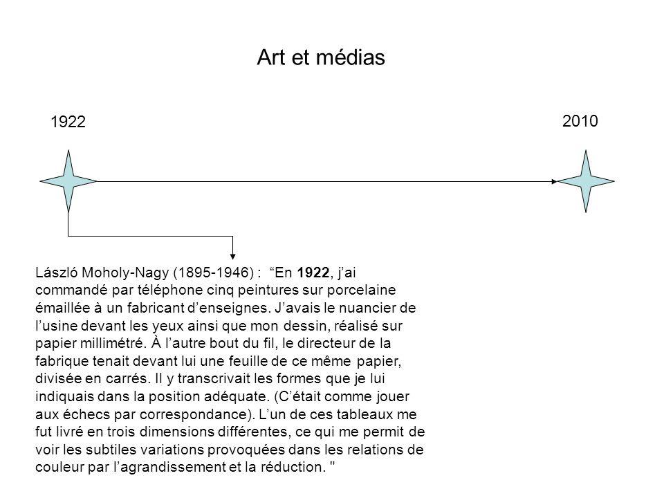 Art et médias 1922. 2010.