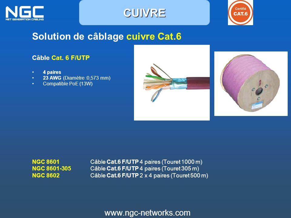 CUIVRE Solution de câblage cuivre Cat.6 www.ngc-networks.com