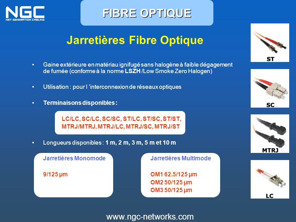 Jarretières Fibre Optique