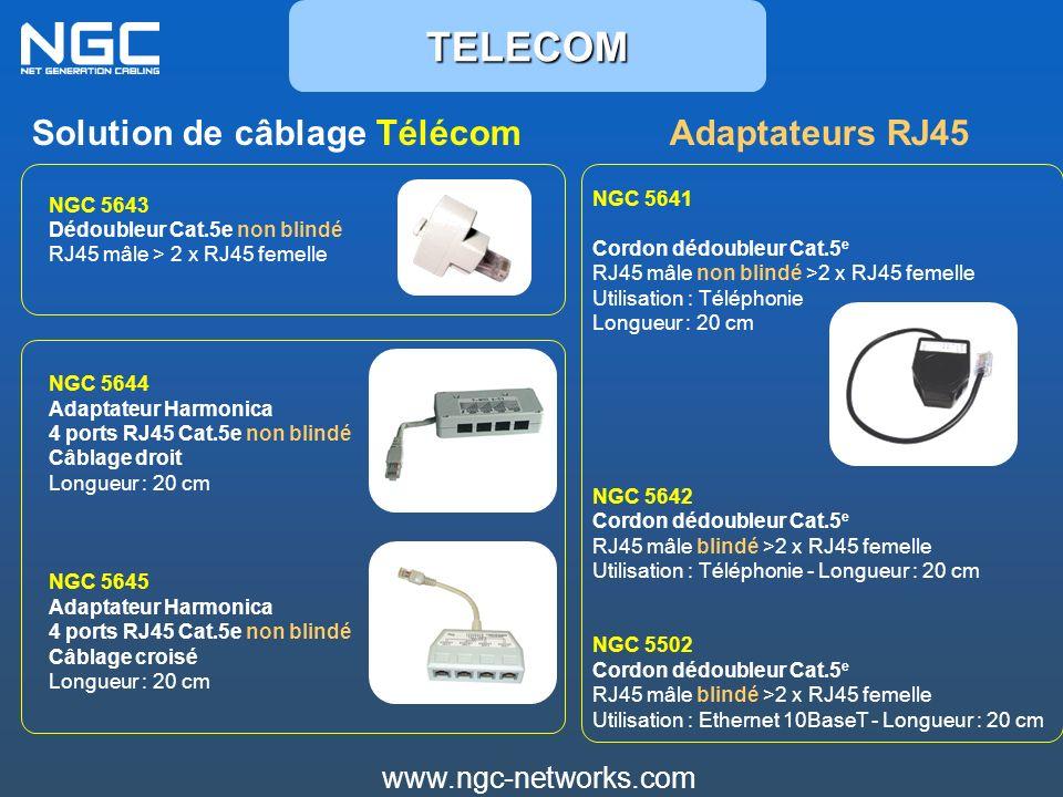 TELECOM Solution de câblage Télécom Adaptateurs RJ45