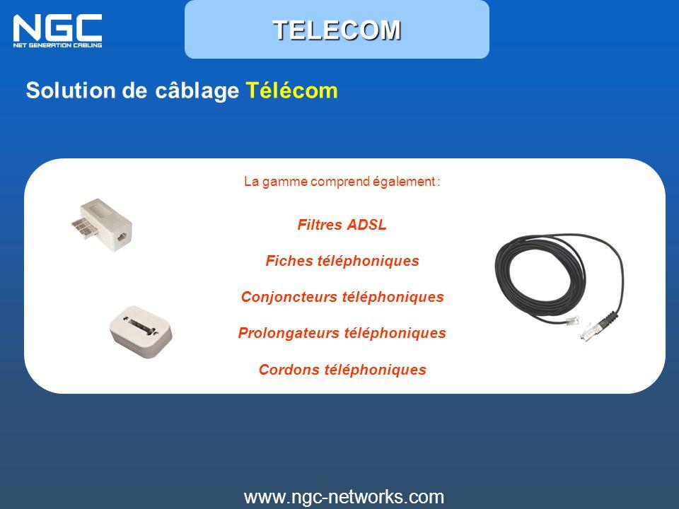 TELECOM Solution de câblage Télécom www.ngc-networks.com Filtres ADSL