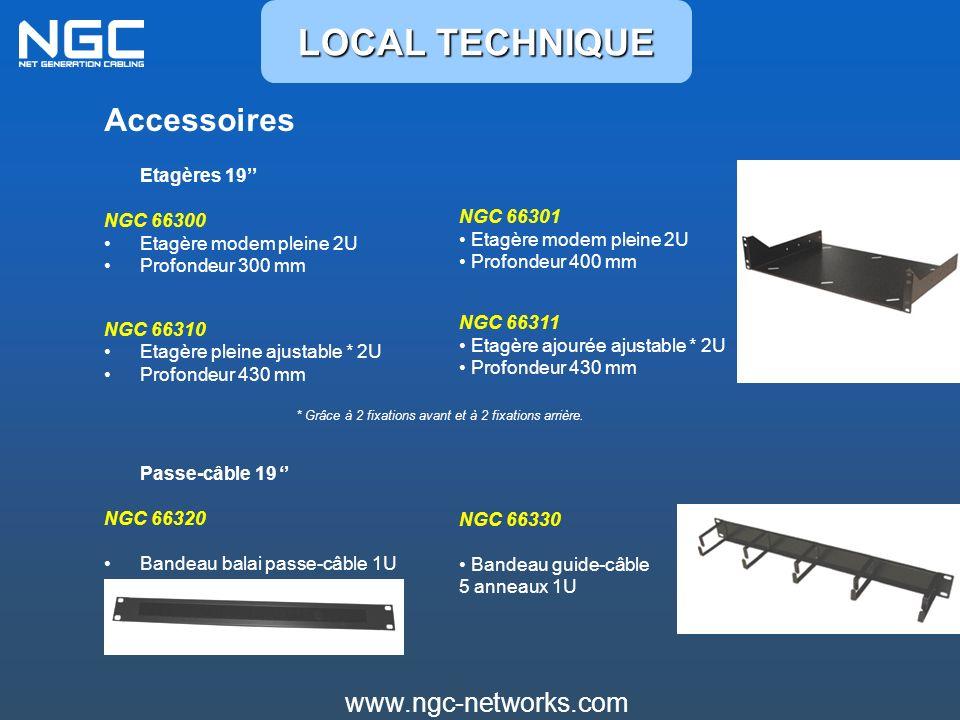 LOCAL TECHNIQUE Accessoires www.ngc-networks.com NGC 66300