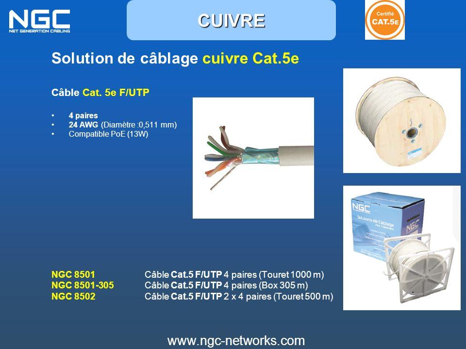 CUIVRE Solution de câblage cuivre Cat.5e www.ngc-networks.com