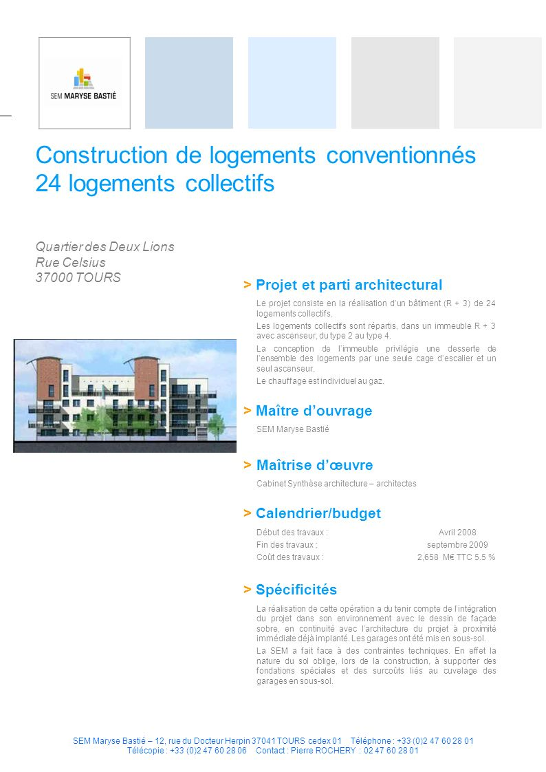 Construction de logements conventionnés 24 logements collectifs