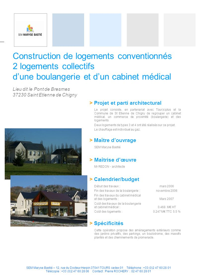Construction de logements conventionnés 2 logements collectifs