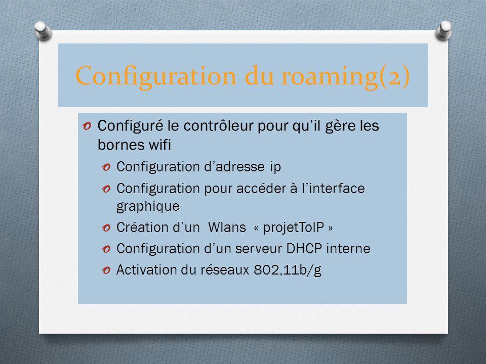Configuration du roaming(2)
