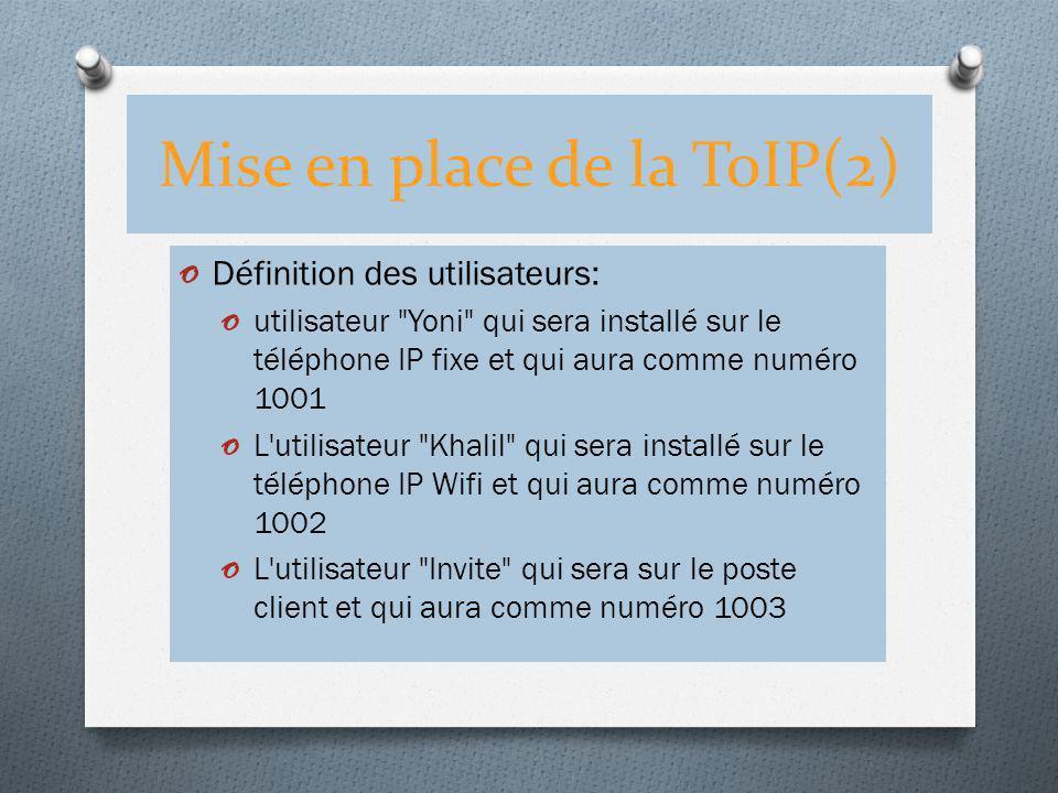 Mise en place de la ToIP(2)