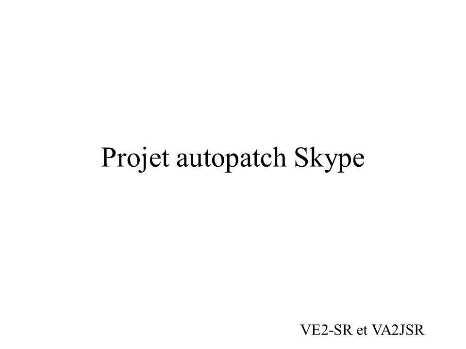 Projet autopatch Skype