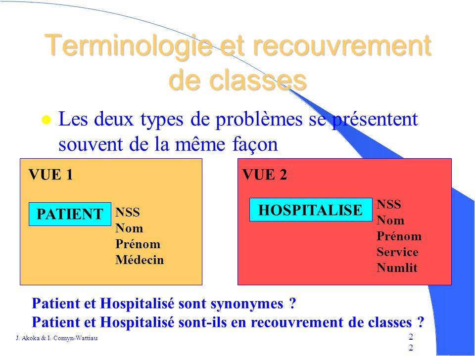 Terminologie et recouvrement de classes