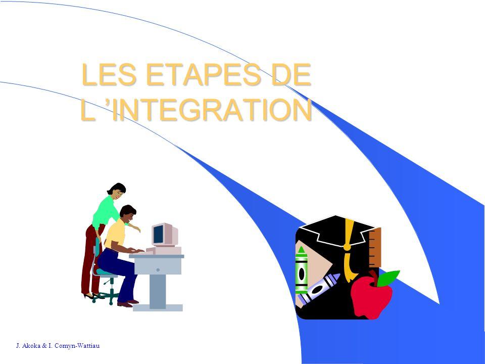 LES ETAPES DE L 'INTEGRATION
