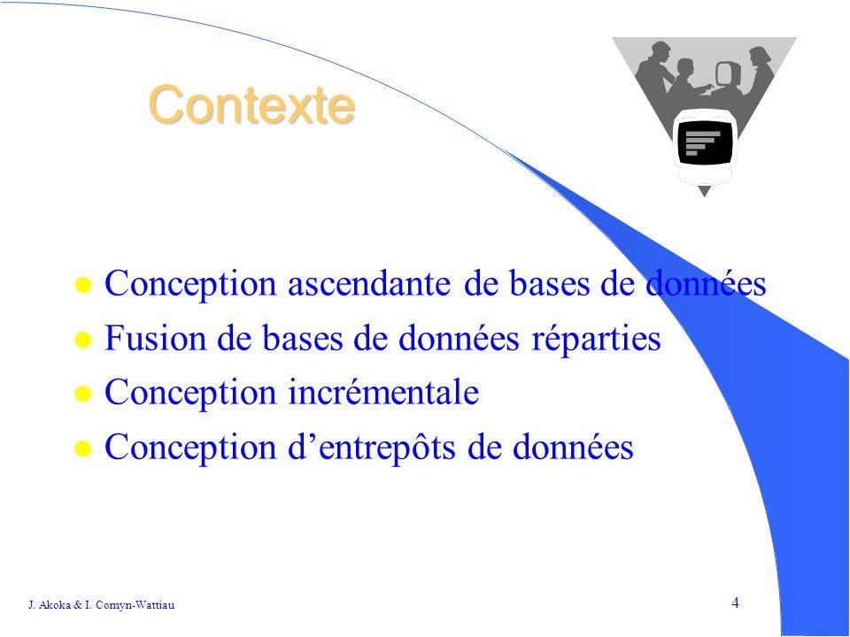 Contexte Conception ascendante de bases de données