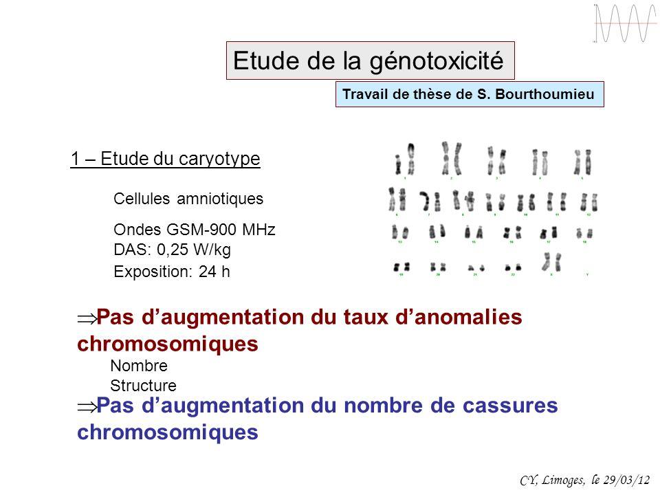 Etude de la génotoxicité