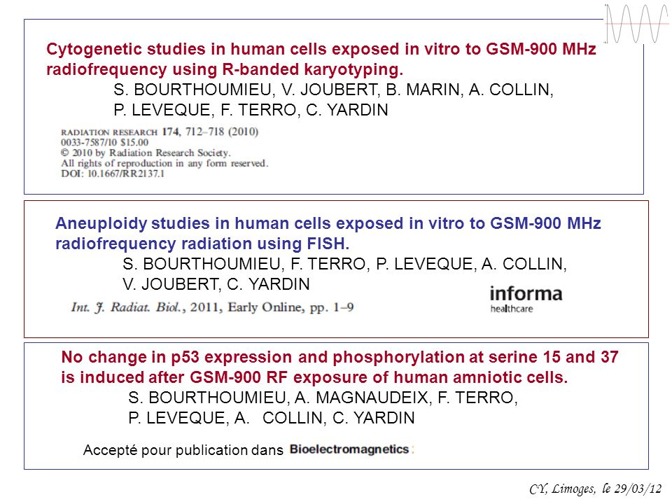 Cytogenetic studies in human cells exposed in vitro to GSM-900 MHz