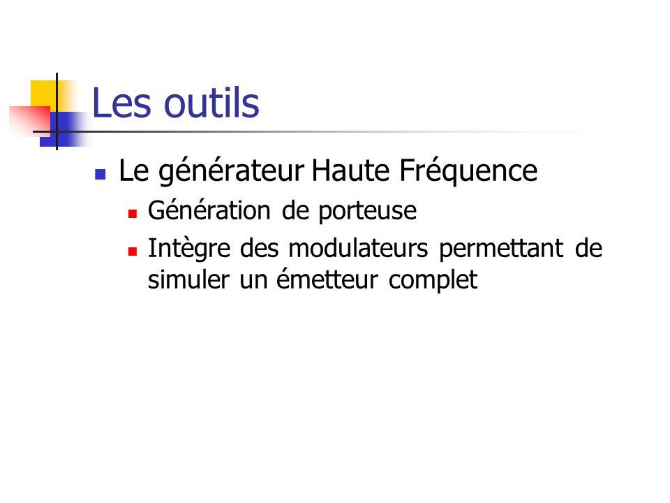 Les outils Le générateur Haute Fréquence Génération de porteuse