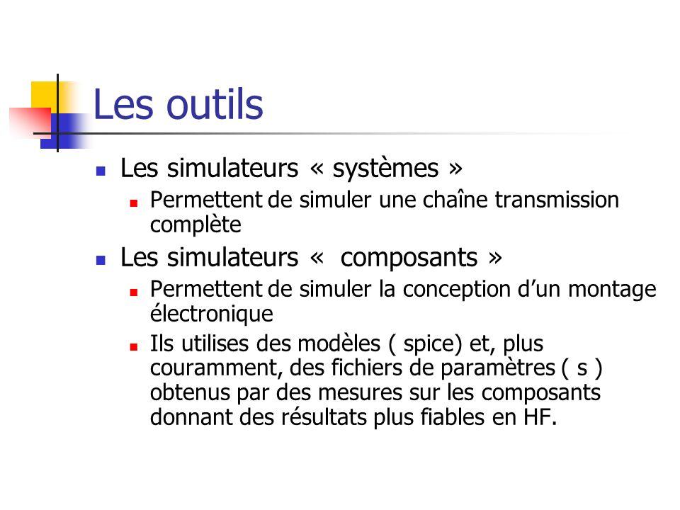 Les outils Les simulateurs « systèmes » Les simulateurs « composants »