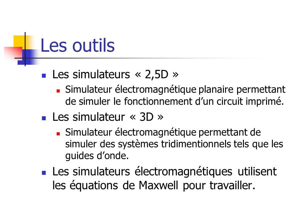 Les outils Les simulateurs « 2,5D » Les simulateur « 3D »