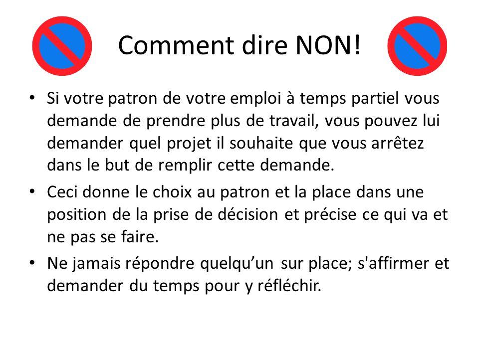 Comment dire NON!
