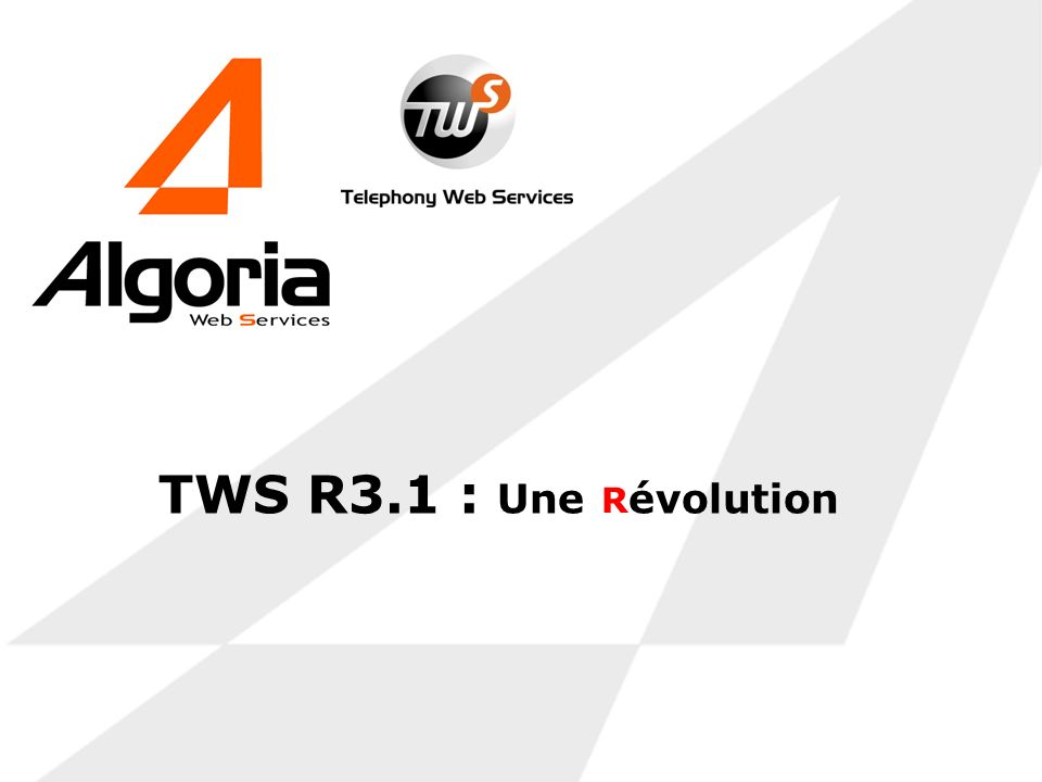 TWS R3.1 : Une évolution R