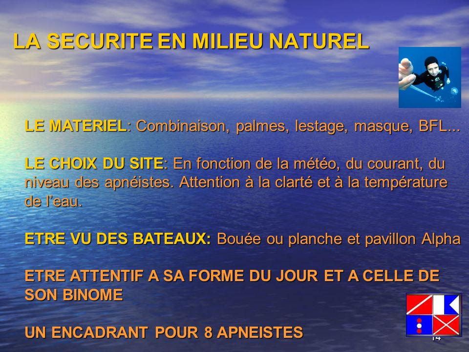 LA SECURITE EN MILIEU NATUREL