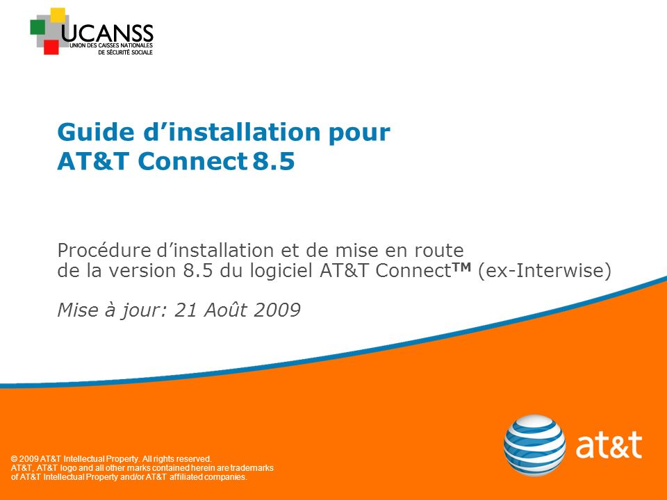 Guide d'installation pour AT&T Connect 8.5