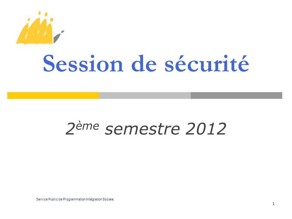 Session de sécurité 2ème semestre 2012