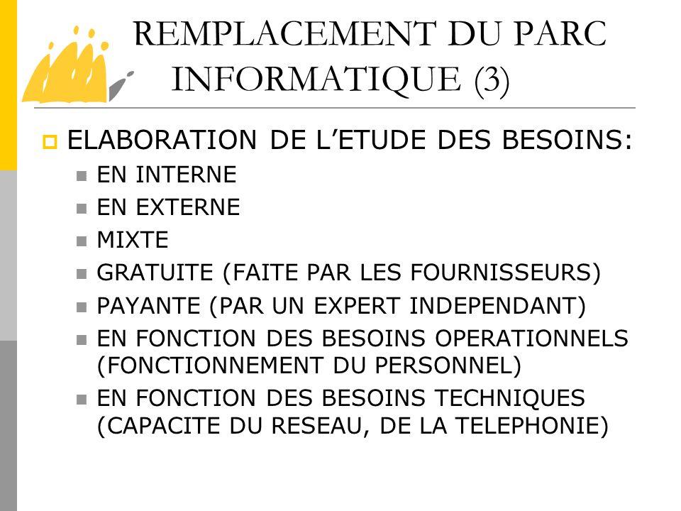 REMPLACEMENT DU PARC INFORMATIQUE (3)