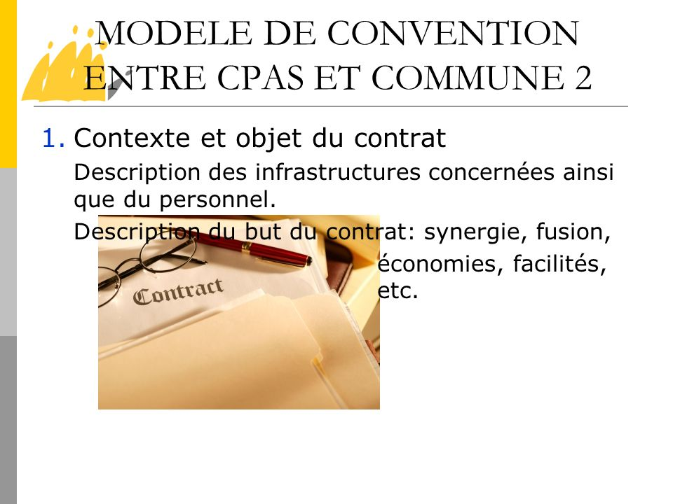 MODELE DE CONVENTION ENTRE CPAS ET COMMUNE 2