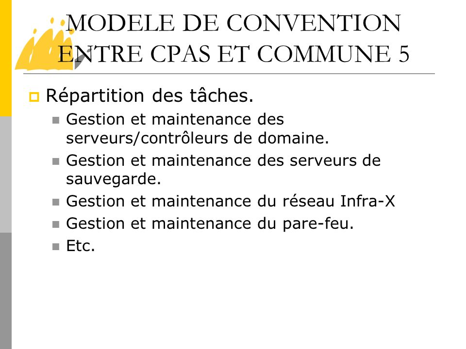 MODELE DE CONVENTION ENTRE CPAS ET COMMUNE 5