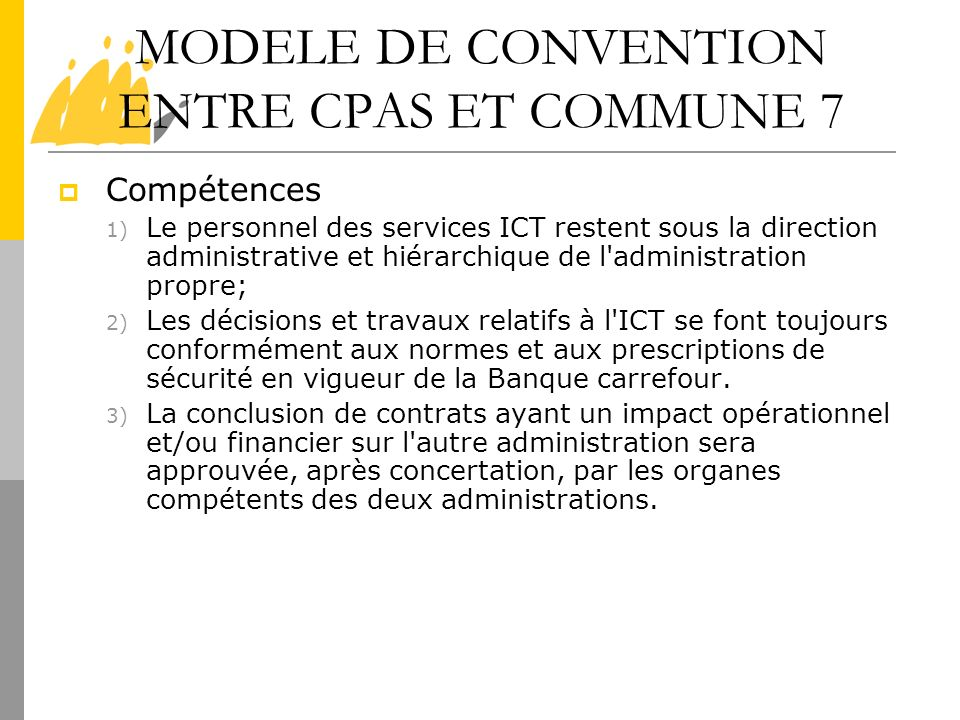 MODELE DE CONVENTION ENTRE CPAS ET COMMUNE 7