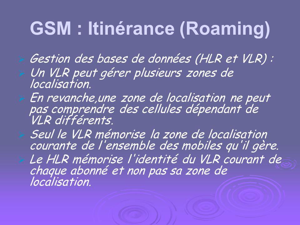 GSM : Itinérance (Roaming)