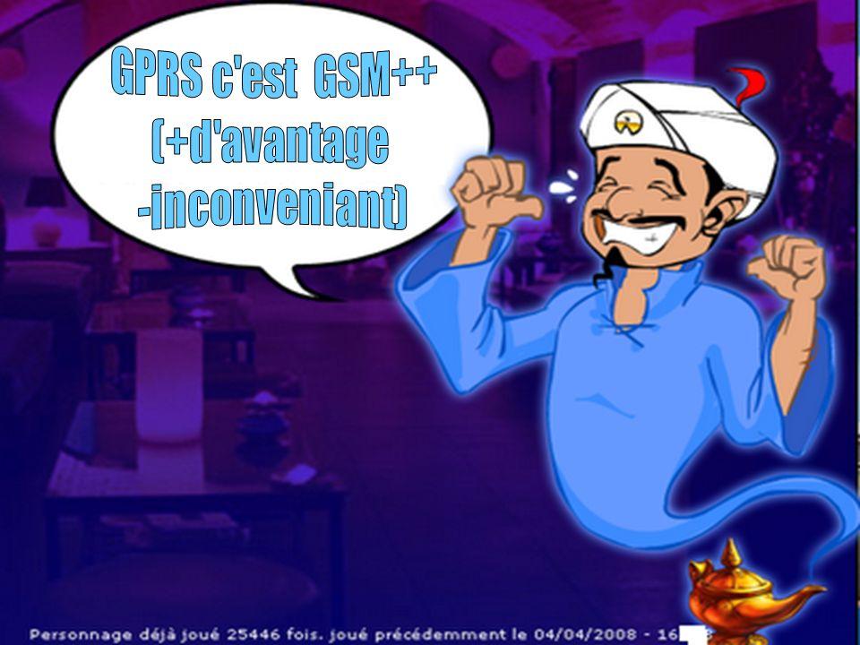 GPRS c est GSM++ (+d avantage -inconveniant)