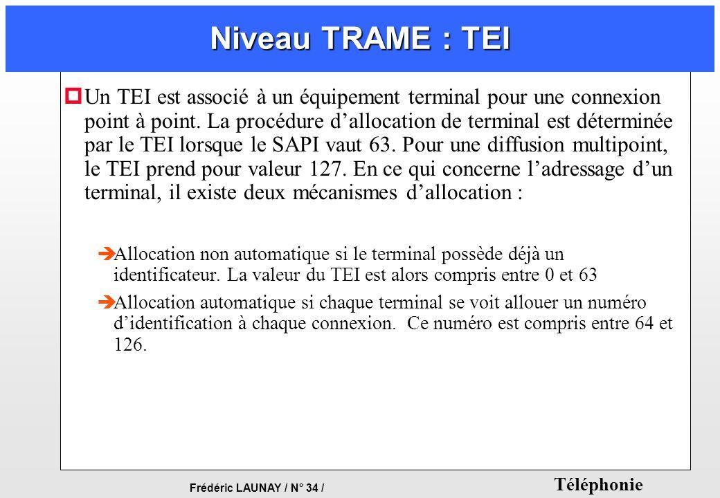 Niveau TRAME : TEI