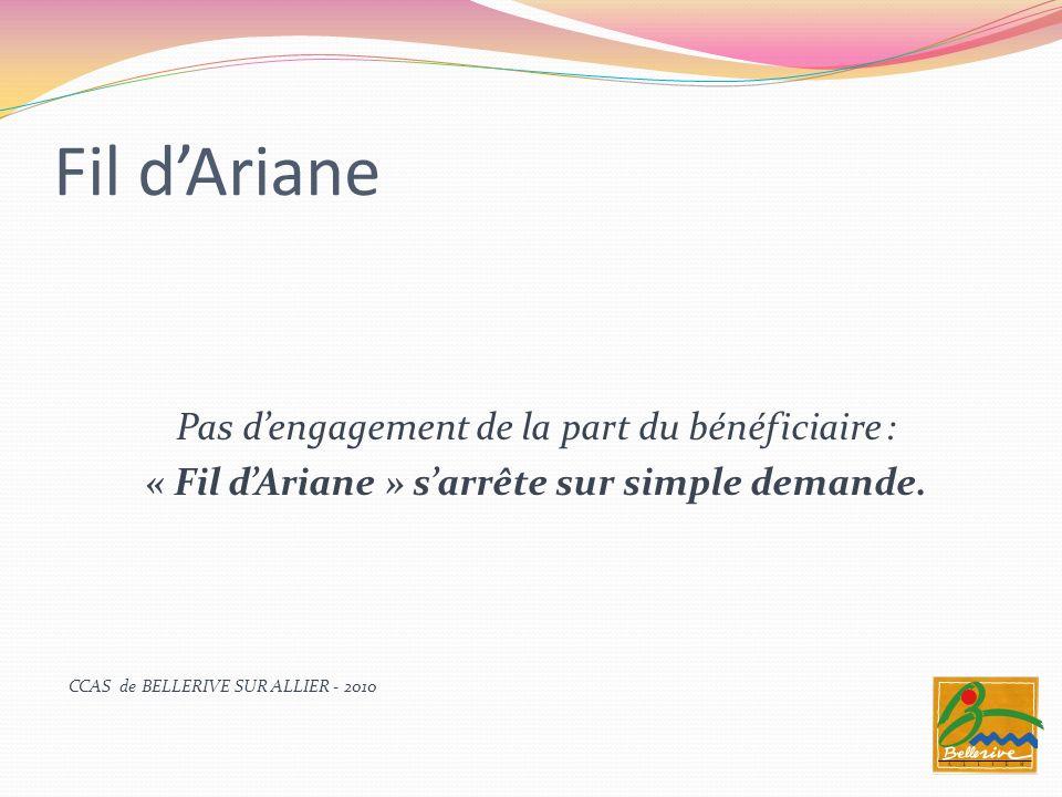 « Fil d'Ariane » s'arrête sur simple demande.