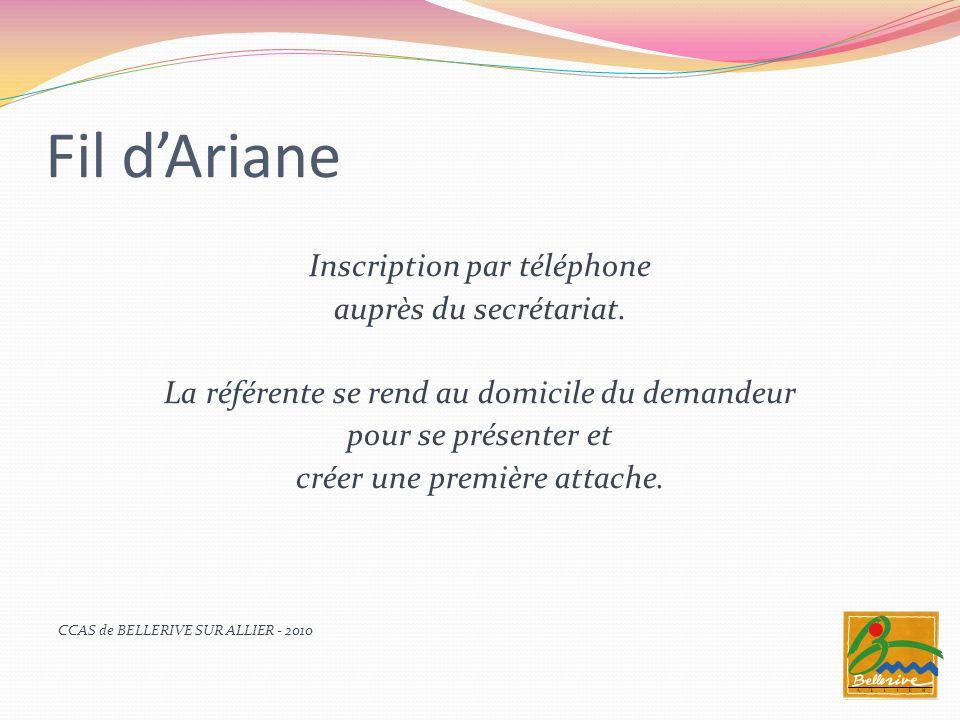 Fil d'Ariane Inscription par téléphone auprès du secrétariat.