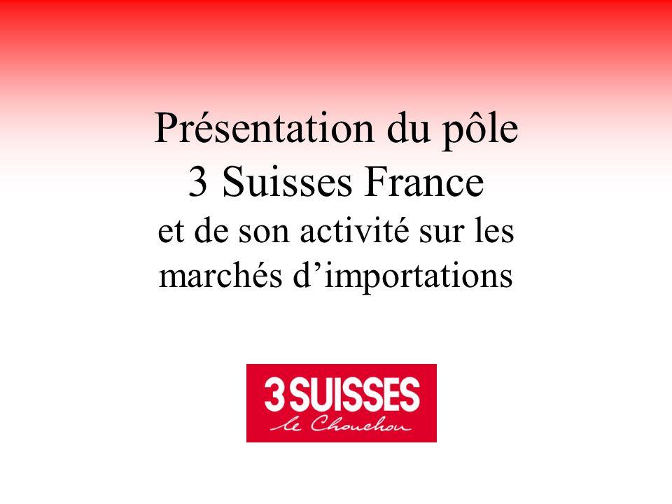 Présentation du pôle 3 Suisses France et de son activité sur les marchés d'importations