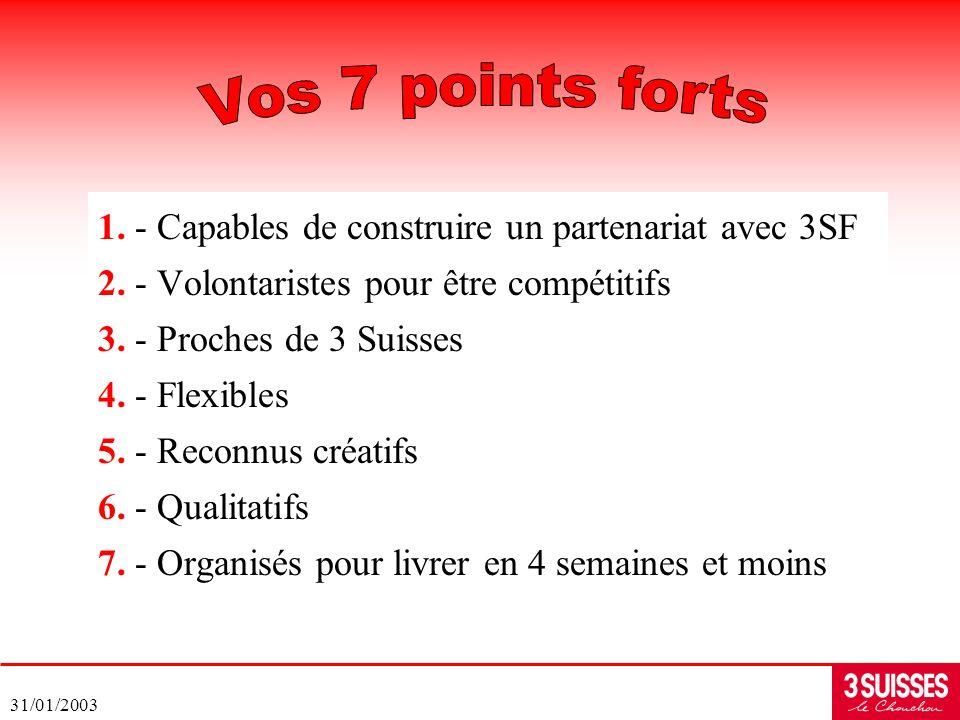Vos 7 points forts 1. - Capables de construire un partenariat avec 3SF