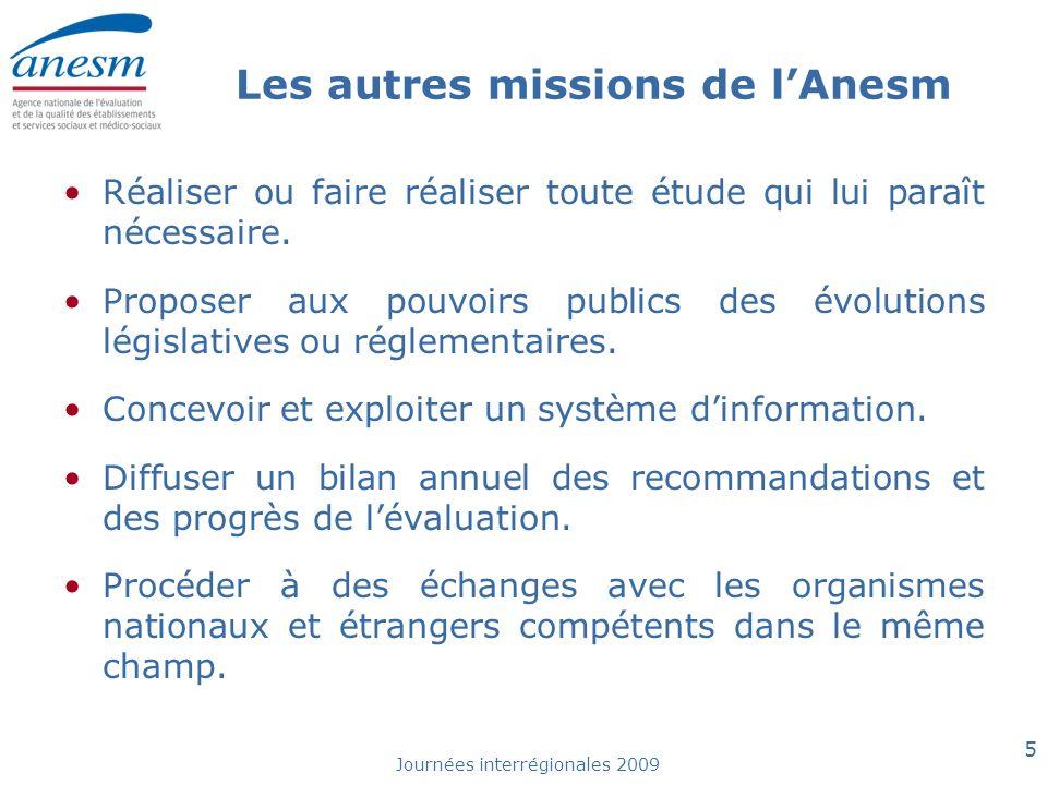 Les autres missions de l'Anesm