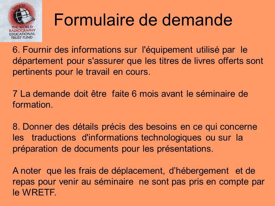 FORMULAIRE DE DEMANDE D'AIDE INFORMATIONS PERSONNELLES DU CANDIDAT: