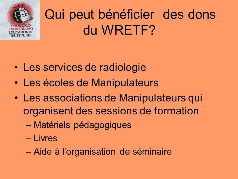 Qui peut bénéficier des dons du WRETF