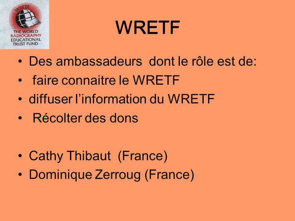 WRETF WRETF Des ambassadeurs dont le rôle est de: