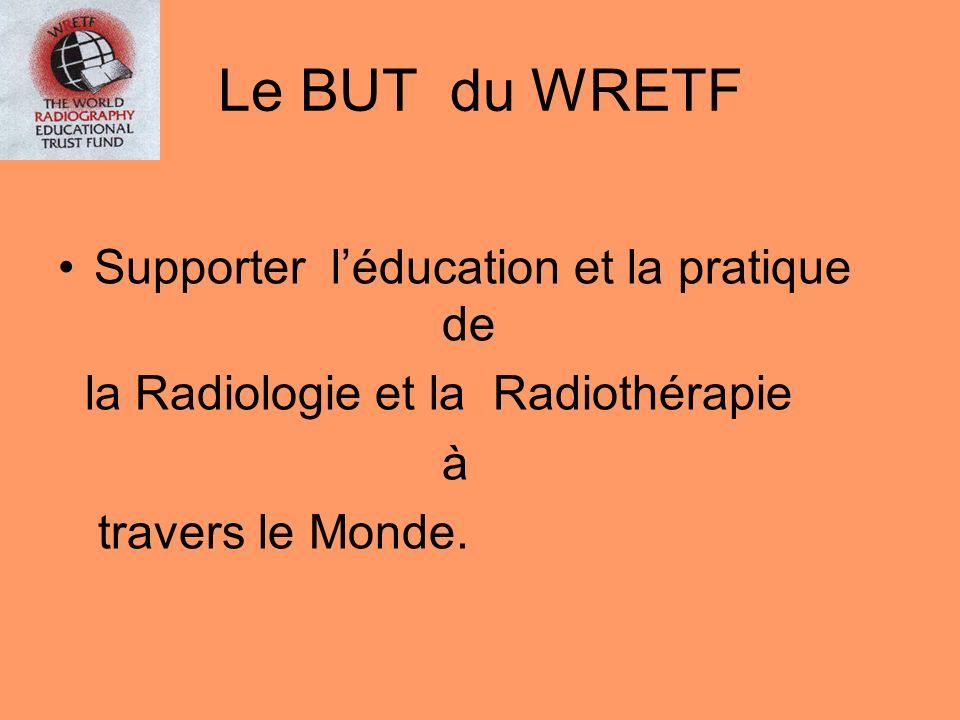 Le BUT du WRETF Supporter l'éducation et la pratique de