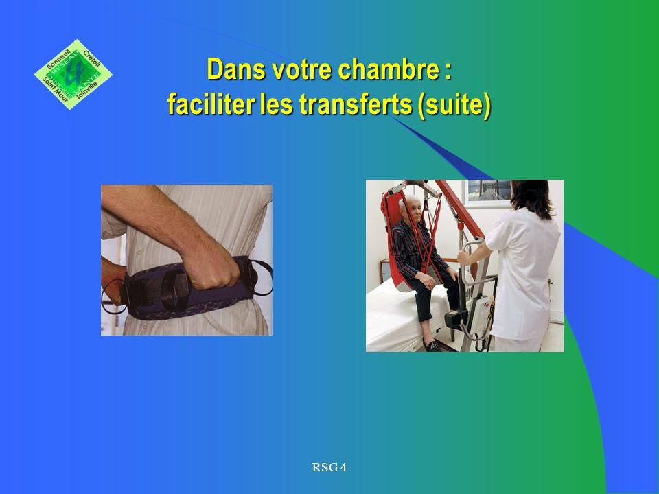 Dans votre chambre : faciliter les transferts (suite)