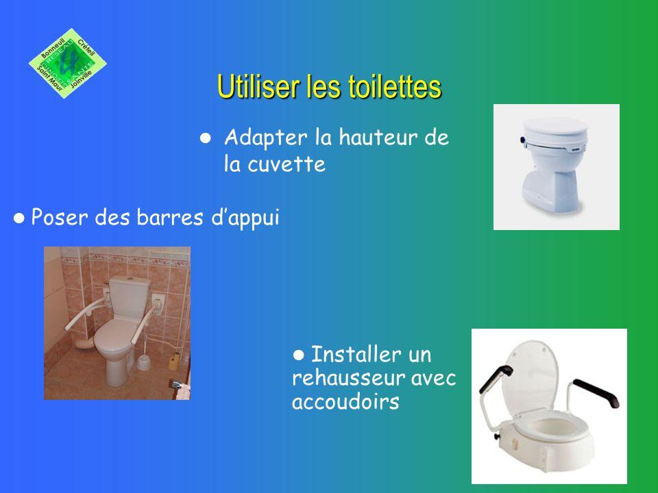 Utiliser les toilettes