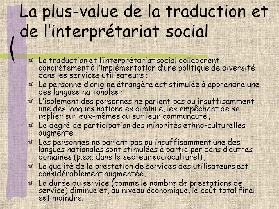 La plus-value de la traduction et de l'interprétariat social