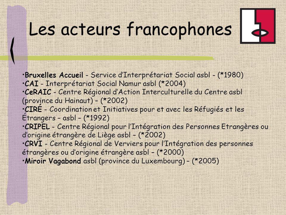 Les acteurs francophones