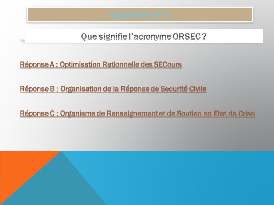 Que signifie l'acronyme ORSEC