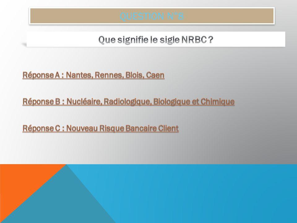 Que signifie le sigle NRBC