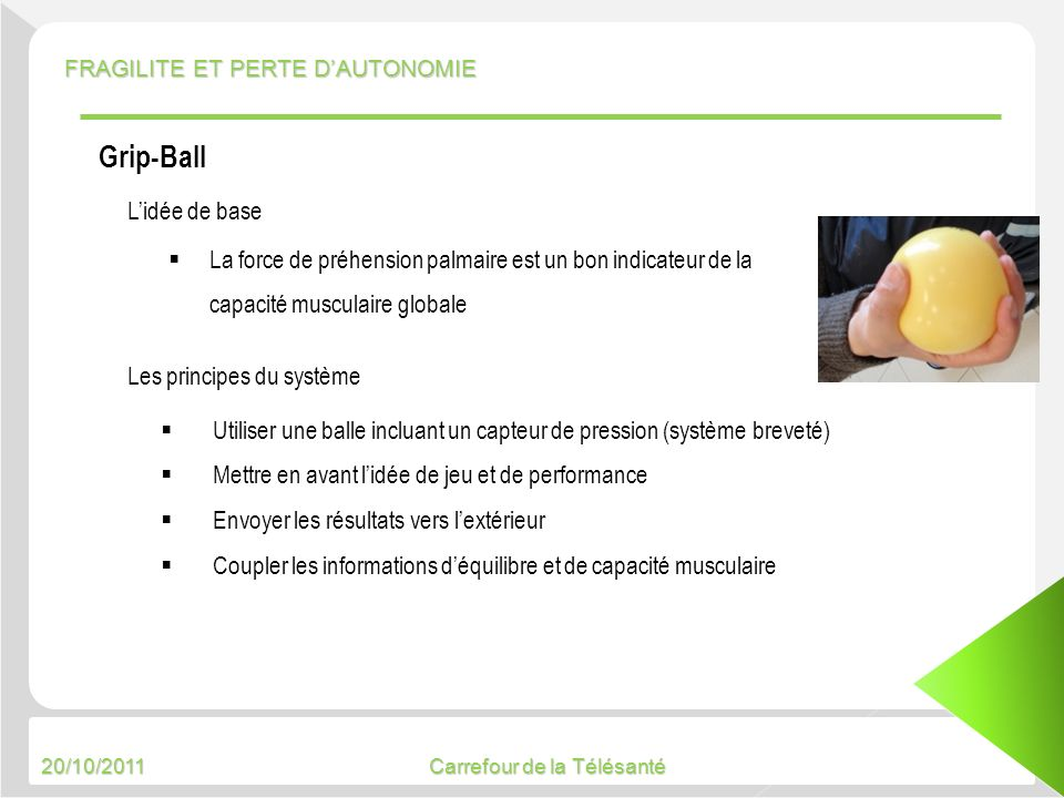 Grip-Ball L'idée de base